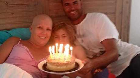 Donna Penny with husband Jason and son Kai.