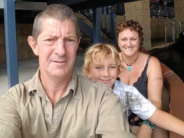 Glenn Kilmartin with his family.