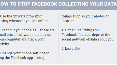 How to stop Facebook collecting data on you