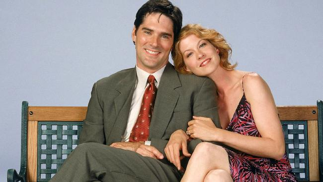 Jenna Elfman with Thomas Gibson Dharma and Greg.