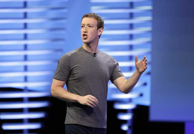 acebook CEO Mark Zuckerberg delivers the keynote address at the F8 Facebook Developer Conference in San Francisco.  Photo AAP