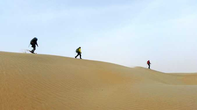 DESERT EXPEDITOIN: A Sunshine Coast man has crossed the Taklamakan Desert in two weeks.