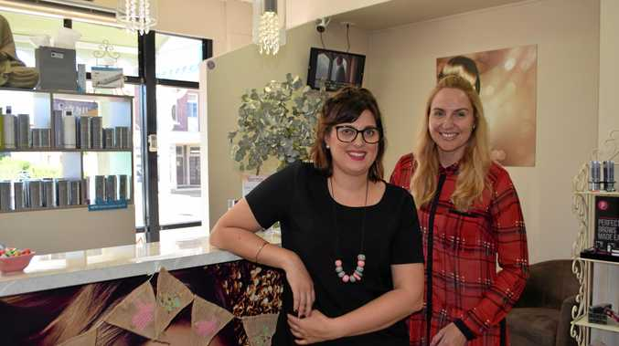 BEAUTY THERAPY: Emma Eastwell and Storm Lahiff at Ooh La La Beaute.