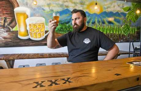 BEST BREWING:  Adrian Cubit looks forward to opening 4 Brothers Brewing in Brook St.