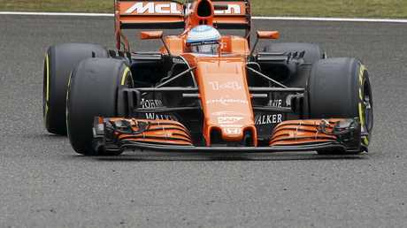 Fernando Alonso of McLaren-Honda in action during the Shanghai Formula One Grand Prix