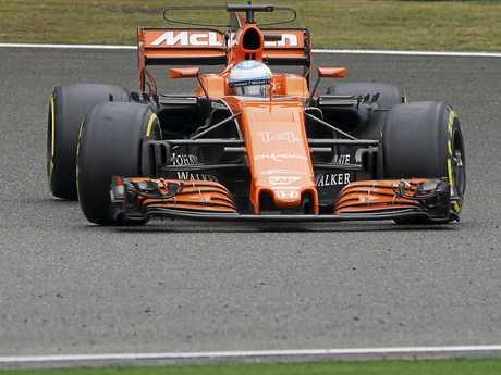Fernando Alonso of McLaren-Honda in action during the Shanghai Formula One Grand Prix