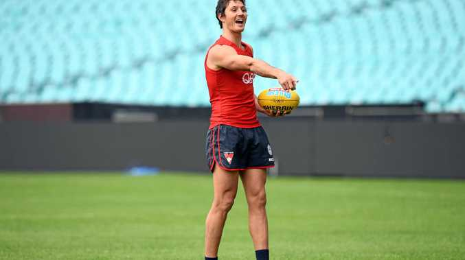 Kurt Tippett takes part in a training session in Sydney