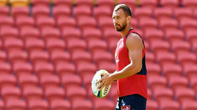 Quade Cooper looks on during the Queensland Reds captains run at Suncorp Stadium