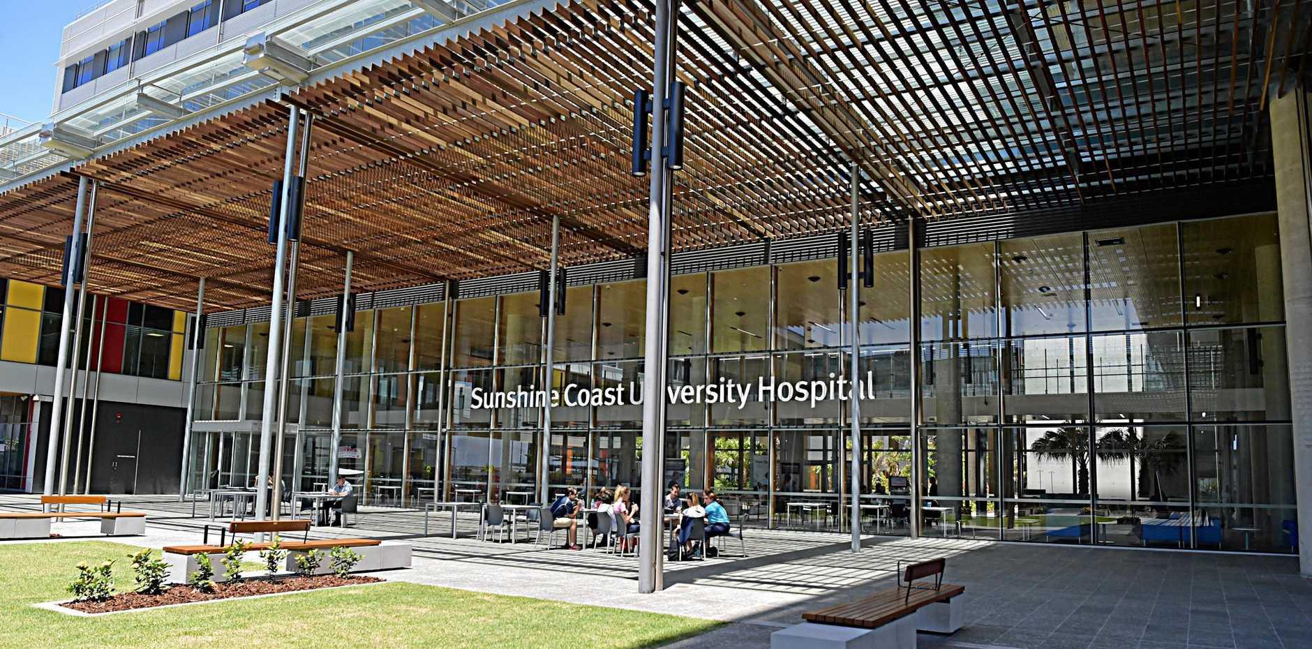 Sunshine Coast University Hospital, at Birtinya on the Sunshine Coast.
