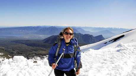 Climbing the Villaricca Volcano near Pucon, Chile.
