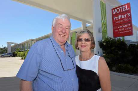 Richard Condon and Jill Gordon fromPotters Oceanside Motel in Mackay.