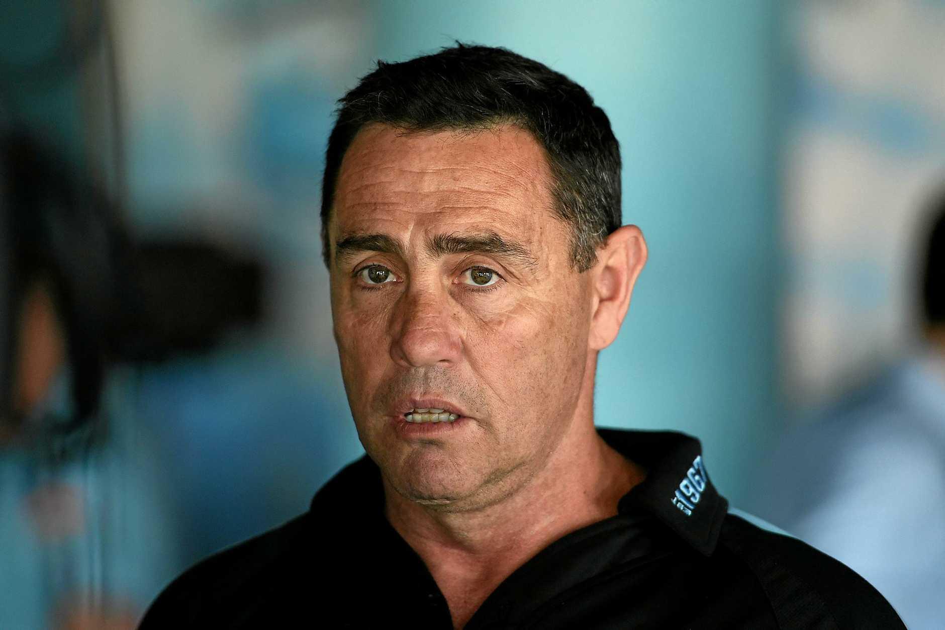 Shocked ... Cronulla Sharks coach Shane Flanagan