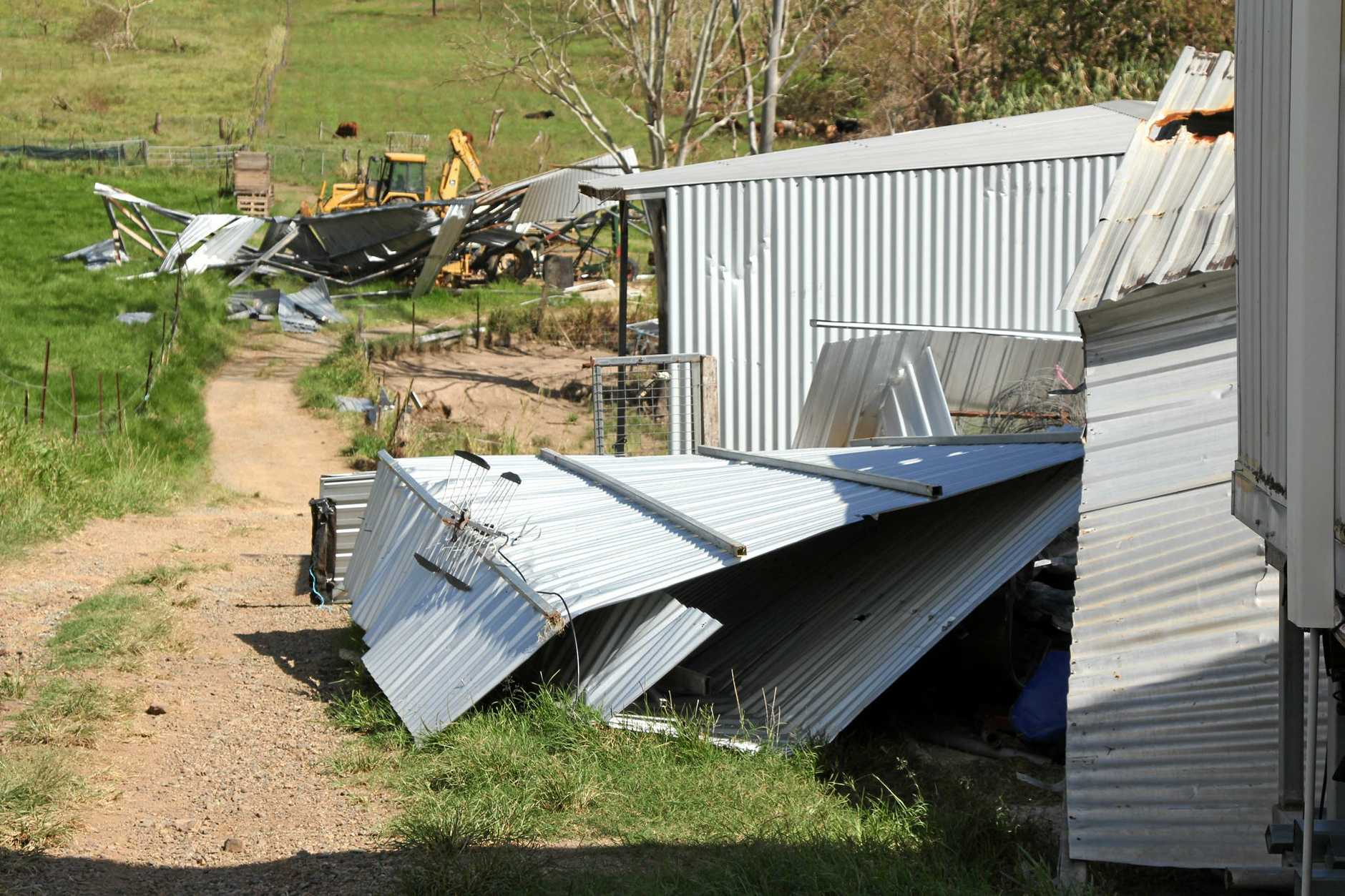 Cyclone Debbie has wreaked large scale destruction at Beefalo.