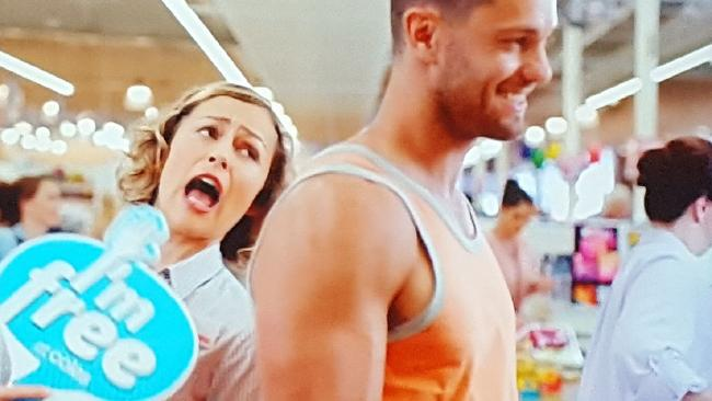 The TV ad featured a female staff member using the sign suggestively.