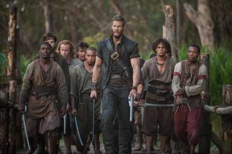 Tom Hopper, centre, in a scene from the TV series Black Sails.