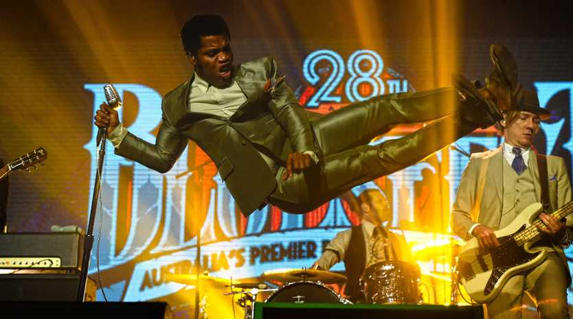 Vintage Trouble perform at Bluesfest 2017 at the Mojo Tent at Byron Bay.