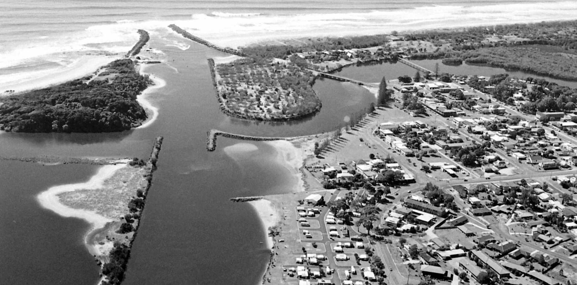 BRUNS FUTURE PAST: An aerial of Brunswick Heads taken in 1985.