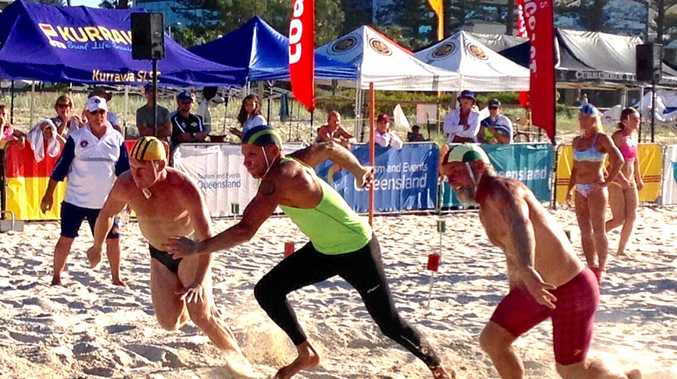 Sole Salt Surf Life Saving Club representative at the Australian Surf Life Saving Championships, John-Paul Smith (middle), won a national title in beach flags and a silver medal in sprints.