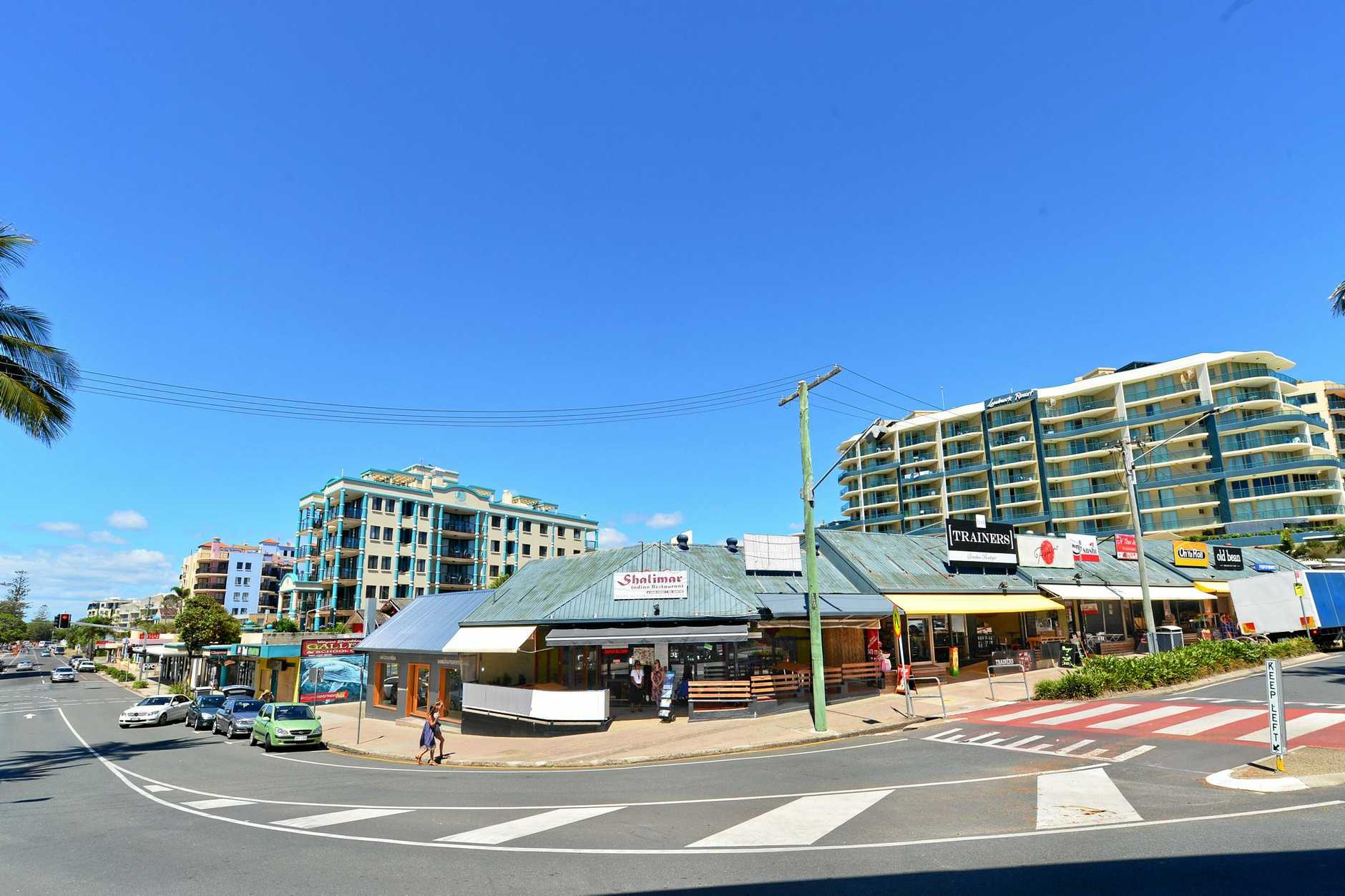 Mooloolaba: The Club eatery site, subject to a 5 star hotel development application by Aria that is currently on hold.