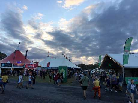 SUNNY: Bluesfest Byron Bay enjoyed mostly dry weather on the first day of the 2017 festival.