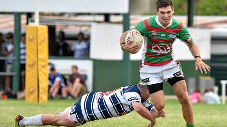 COMBO: Koli Oneone plays centre inside speedster Billy Stefaniuk (pictured), creating one of the most dangerous left-side combinations in the Bundaberg Rugby League.