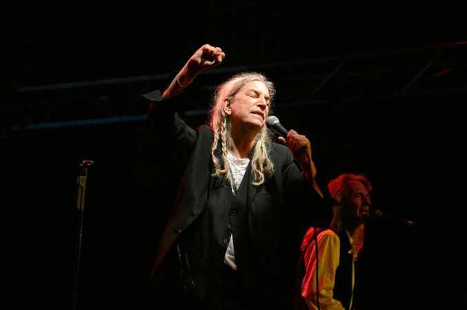 Patti Smith at Bluesfest 2017 in Byron Bay.