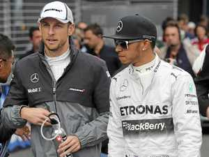 Lewis Hamilton pushes Button for Monaco