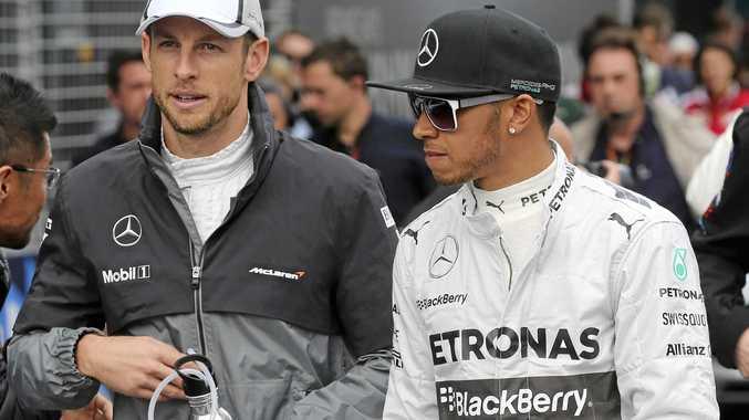 Jenson Button (left) and Lewis Hamilton.