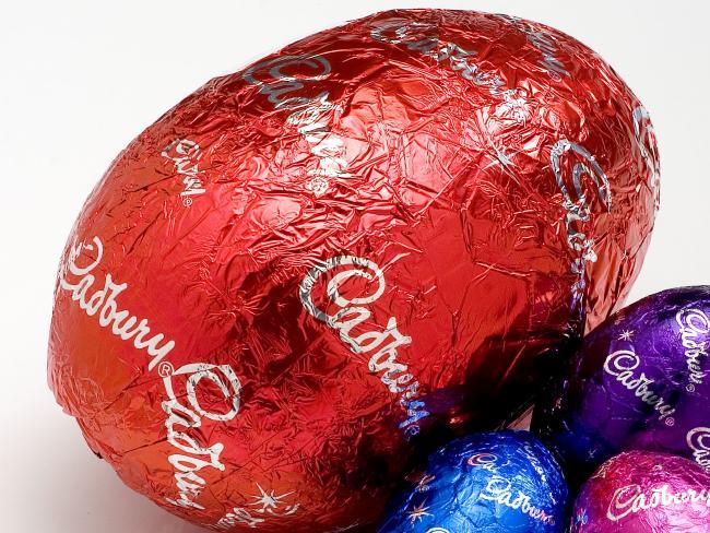 A 105g Cadbury hollow chocolate Easter egg.