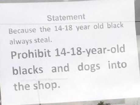 The shocking note left on the Melton milk bar window
