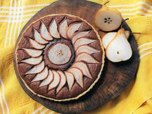 Easter treat: Chocolate and pear frangipane tart
