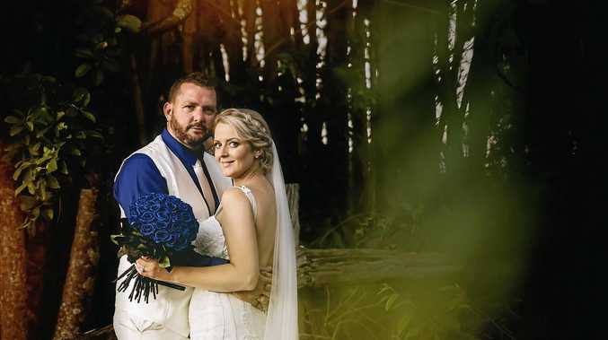 BIG SURPRISE: Sarah and Johl Pietzner held a surprise wedding on April 1 at Blue Water Quay, despite Cyclone Debbie trying to derail their plans.