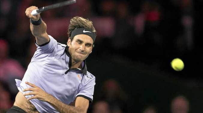Swiss tennis player Roger Federer.