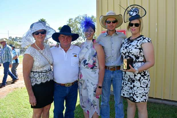 Debbie and Grahme Payne, Bec Thompson and Matthew and Patricia Doak.