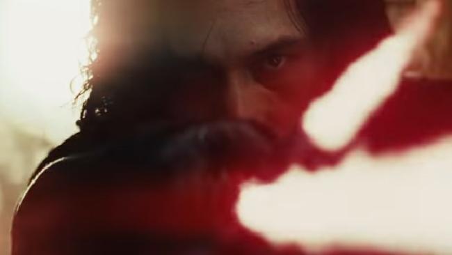Adam Driver at his menacing best as Kylo Ren in the new Star Wars trailer.