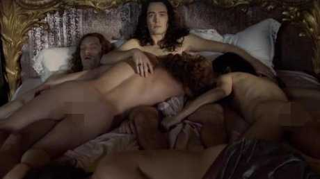 The orgy scene causing a major stir.