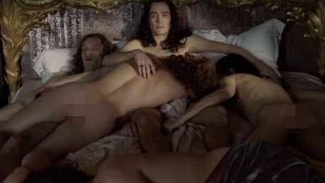 The orgy scene causing a major stir.