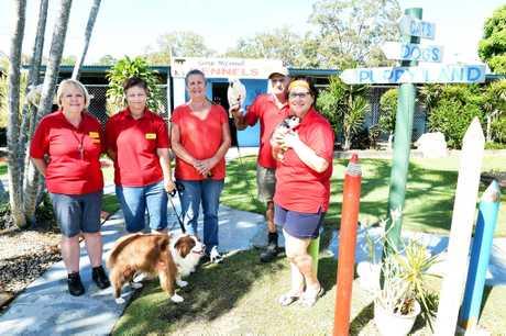 Adopt a new member of the family from the Hervey Bay Animal Refuge. Volunteers Glenda Hare, Mel Wilks, Maree Hill, Bob Heathcote and Lena Maag.