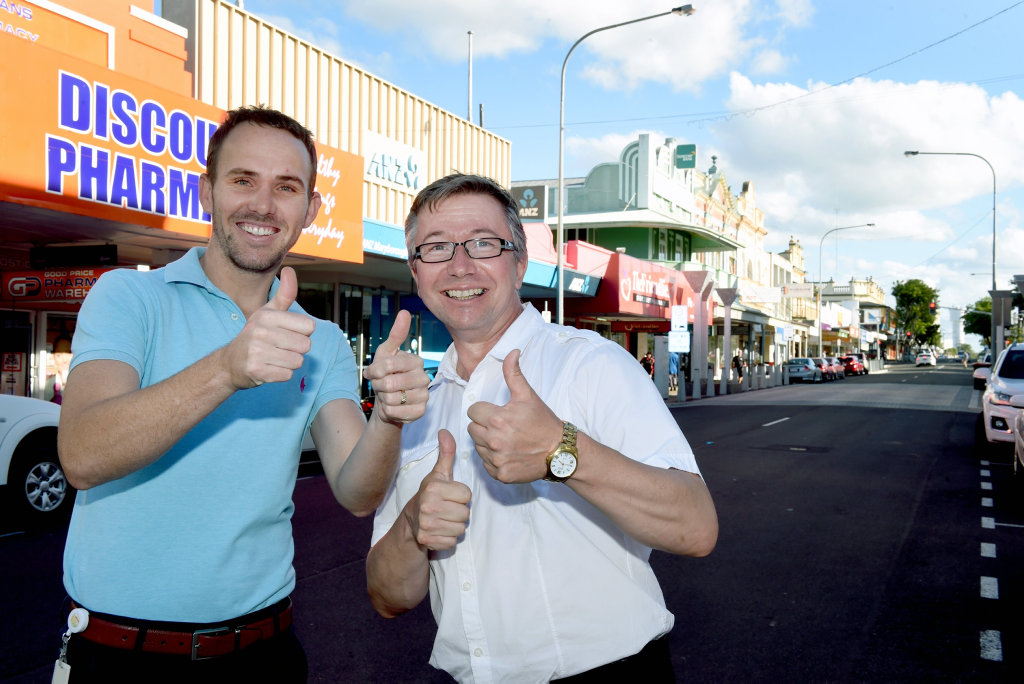 They have a plan - Fraser Coast Regional Council are launching the incentive, Celebrate Maryborough. Fraser Coast Councillor Daniel Sanderson and City Precinct Coordinator Roger John.