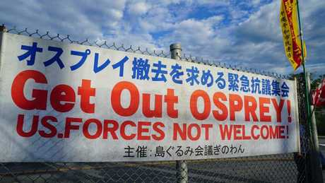 The Okinawans are challenging and resisting the greatest military power in the world.