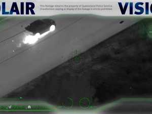 Polair footage of Easter stolen vehicles