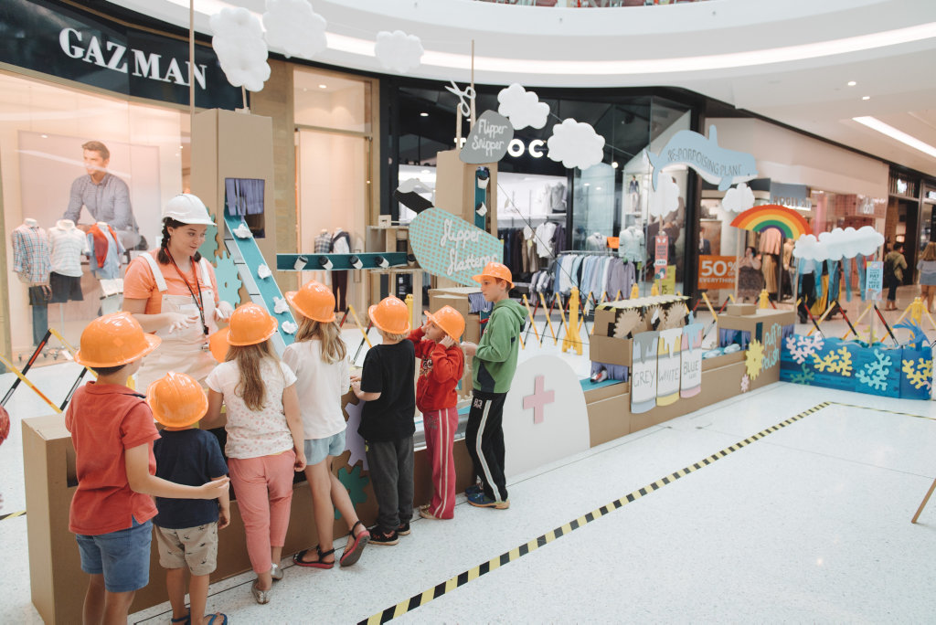 Grand Central Shopping Centre is hosting school holiday activities in its Fictional Factory.