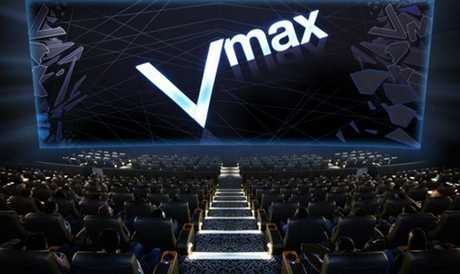 The new expanded Caneland Central and Event cinemas will feature a Vmax theatre.