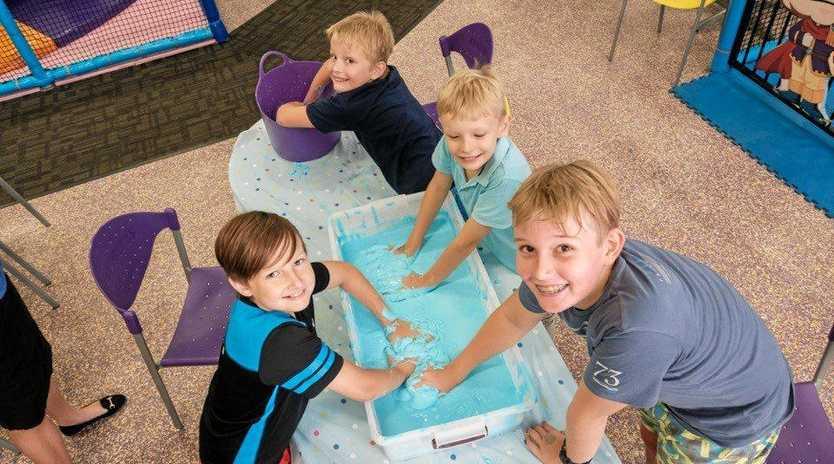 HAPPY DAYS: Children enjoying World Autism Awareness celebrations at Chipmunks.