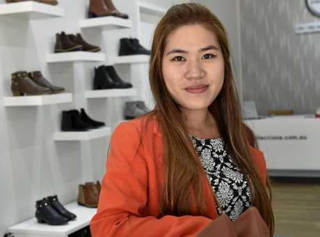 New business opens in Duggan Street.  S&G Collections owner Katherine Nguyen has opened the speciality shoe store with an emphasis on individual styles and small sizes. April 2017