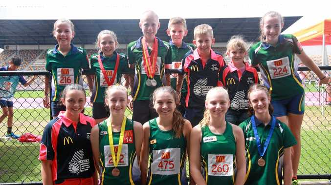 STARS: South Burnett athletes put in a strong showing at the Queensland Athletics Championships.