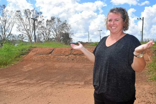 ROUGH: BMX secretary Sharon Jenkinson said the Proserpine BMX track is in need of a massive refurbishment.