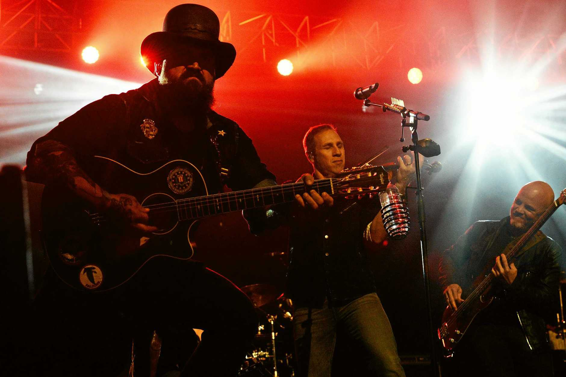 The Zac Brown Band perform at Bluesfest on the Sunday evening. Photo Brooke Bijl