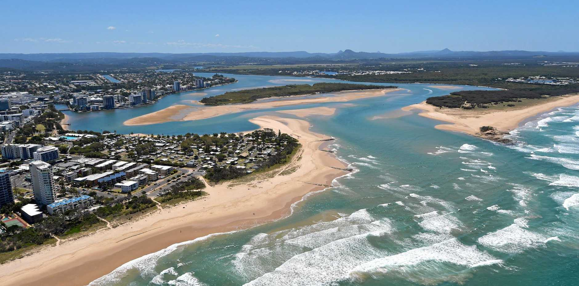 Maroochy River mouth.