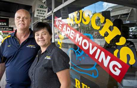 HEADED NORTH: Tony and Judy Jannusch from Jannusch Shoe Repairs are moving shop to Ruthven St.  Thursday Apr 13, 2017.